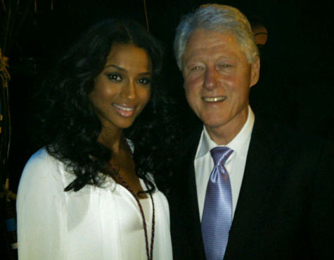 clinton ciara Hot Shots: Usher, Ciara, & Justin Bieber At World Leadership Awards