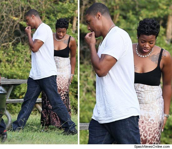 fan Hot Shots: Fantasia Spotted With Antwaun Cook