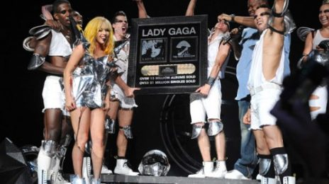 Hot Shot: Lady GaGa Awarded Plaque For 13 Million Albums Sold