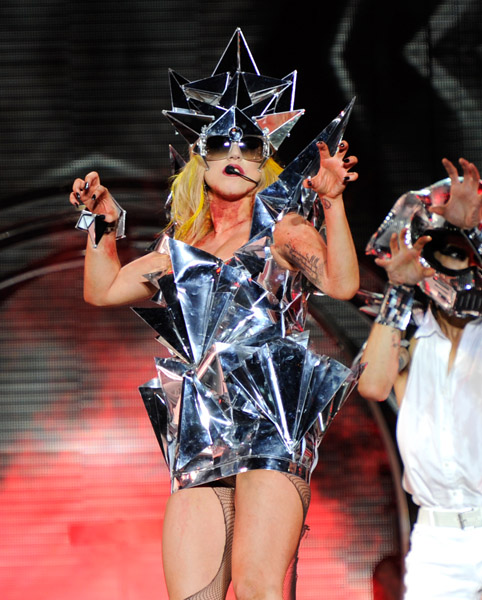 gaga1 Hot Shots: Lady GaGa Rocks Lollapalooza