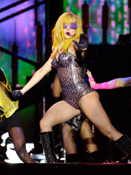 gaga2 Hot Shots: Lady GaGa Rocks Lollapalooza
