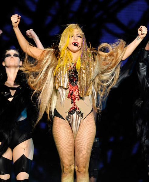 gaga4 Hot Shots: Lady GaGa Rocks Lollapalooza