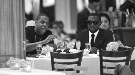 Hot Shots: Kanye West & Jay-Z Do Dinner