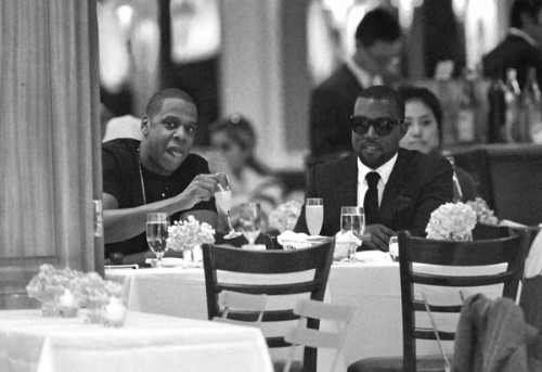 k j 3 e1280628051202 Hot Shots: Kanye West & Jay Z Do Dinner