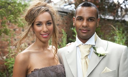 leona wedding e1283256153908 Hot Shot: Leona Lewis At Brothers Wedding