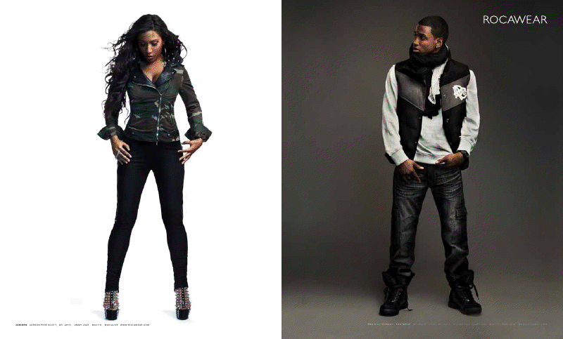 rock1 Hot Shots: Trey Songz & Melanie Fionas Rocawear Campaign