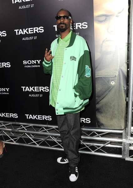 snoop d4 Hot Shots: Stars At Takers Premiere