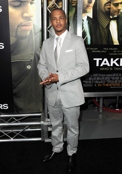 t.i t Hot Shots: Stars At Takers Premiere