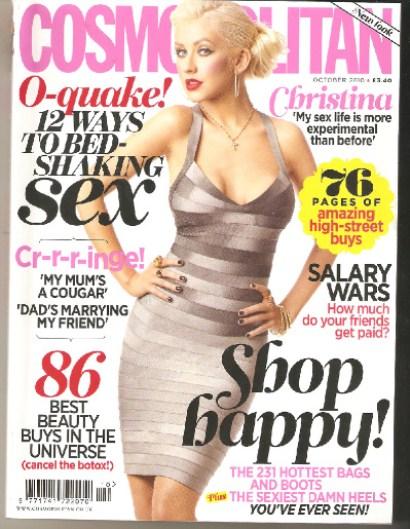 Christina Aguilera Cosmo UK1 Hot Shot: Christina Aguilera Covers Cosmopolitan