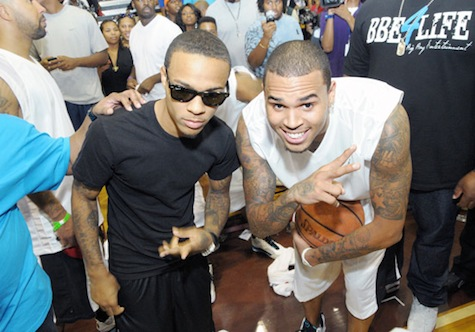 bow 4 Hot Shots: Chris Brown, Kelly Rowland & More LudaDay Basketball Event