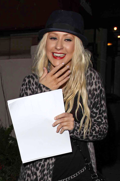 christina Hot Shot: Christina Aguilera At Matsuhisa