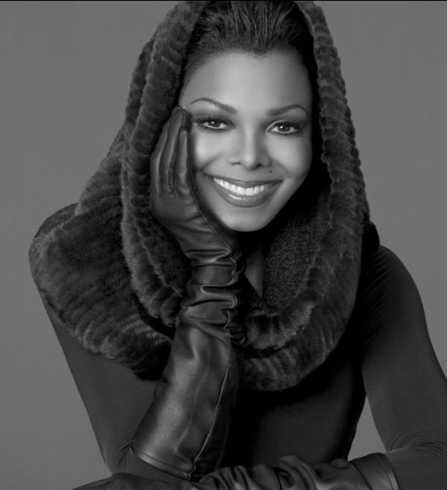 janet blackglama e1309624756572 Janet Jackson Visits Paul OGrady Show; Announces Tour Extension