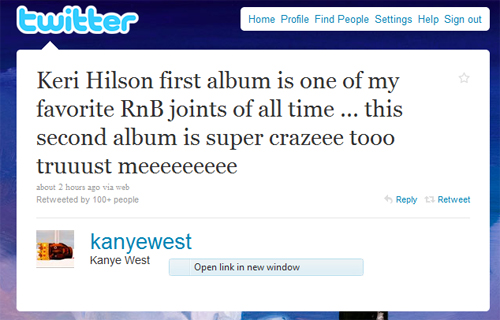 kanye keri Quote of the Day: Kanye West On Keri Hilson
