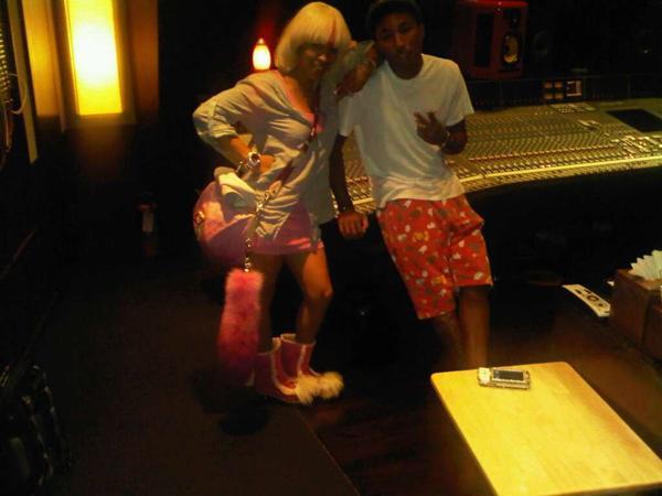 keke Hot Shot: Keyshia Cole & Pharrell Hit The Studio
