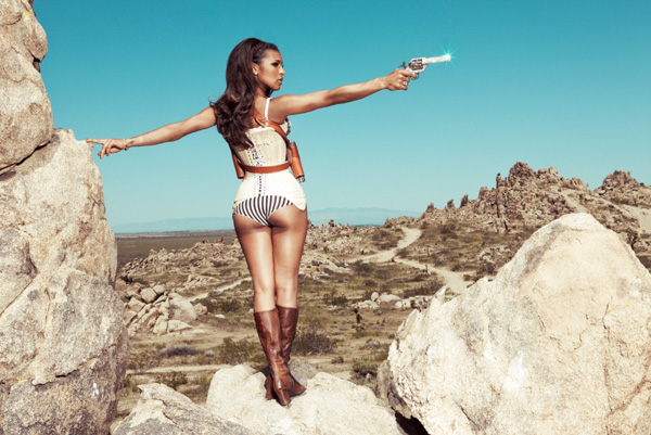 melody3 Hot Shots: Melody Thornton Takes It To The Wild West