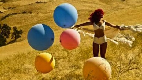 Hot Shot: Rihanna Plays With Balls On the Set Of New Video