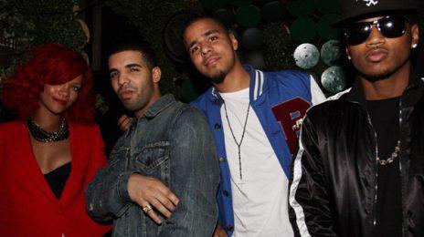 Hot Shot: Rihanna, Drake, J.Cole & Trey Songz Party In NYC