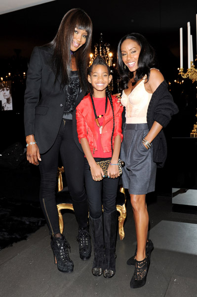 willow naomi Hot Shots: Willow Smith With Naomi Campbell, Kylie Minogue & More
