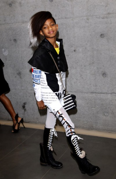 willow smith 4 e1285446336923 Hot Shots: Willow Smith At Armani Fashion Show