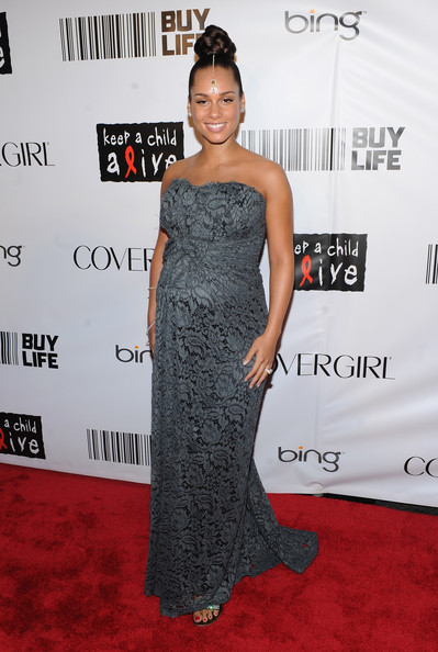 alicia pregnant Hot Shots: Whitney, Beyonce, Alicia, Jennifer Hudson, & More At Keep A Child Alive Ball