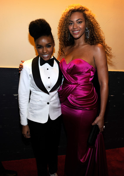 b and janelle Hot Shots: Whitney, Beyonce, Alicia, Jennifer Hudson, & More At Keep A Child Alive Ball