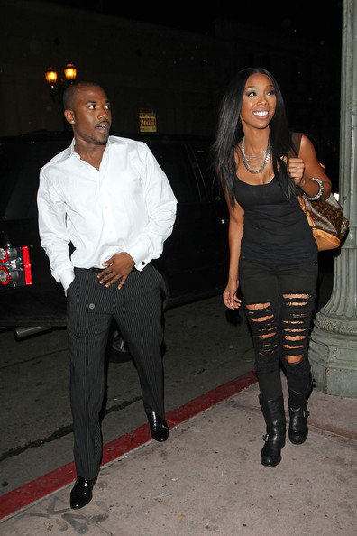 brandy2 Hot Shots: Brandy & Ray J Party In West Hollywood