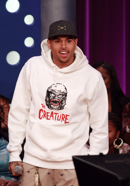 chrisbrown Hot Shots: Chris Brown Parties In New York