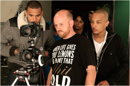 christip2 Hot Shots: Chris Brown & T.I On The Set Of Get Back Up Video