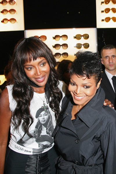 janet naomi 3 Hot Shots: Janet Jackson & Naomi Campbell Pose In Paris