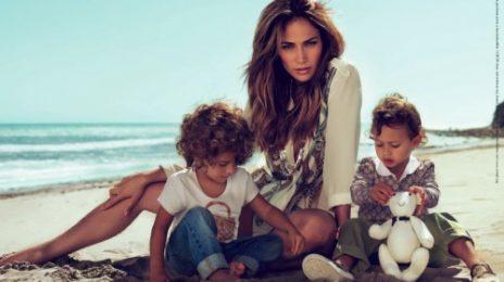 Jennifer Lopez & Kids Pose For Gucci