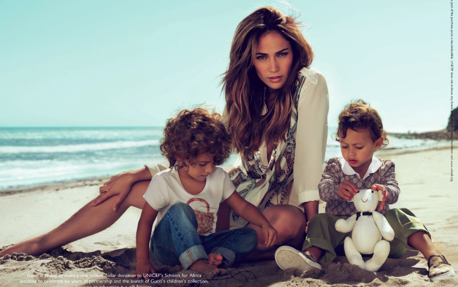 Jennifer Lopez & Kids Pose For Gucci - That Grape Juice