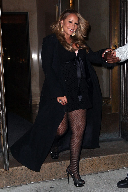 mariah1 Hot Shots: Mariah Carey Celebrates Nick Cannons Birthday In NYC