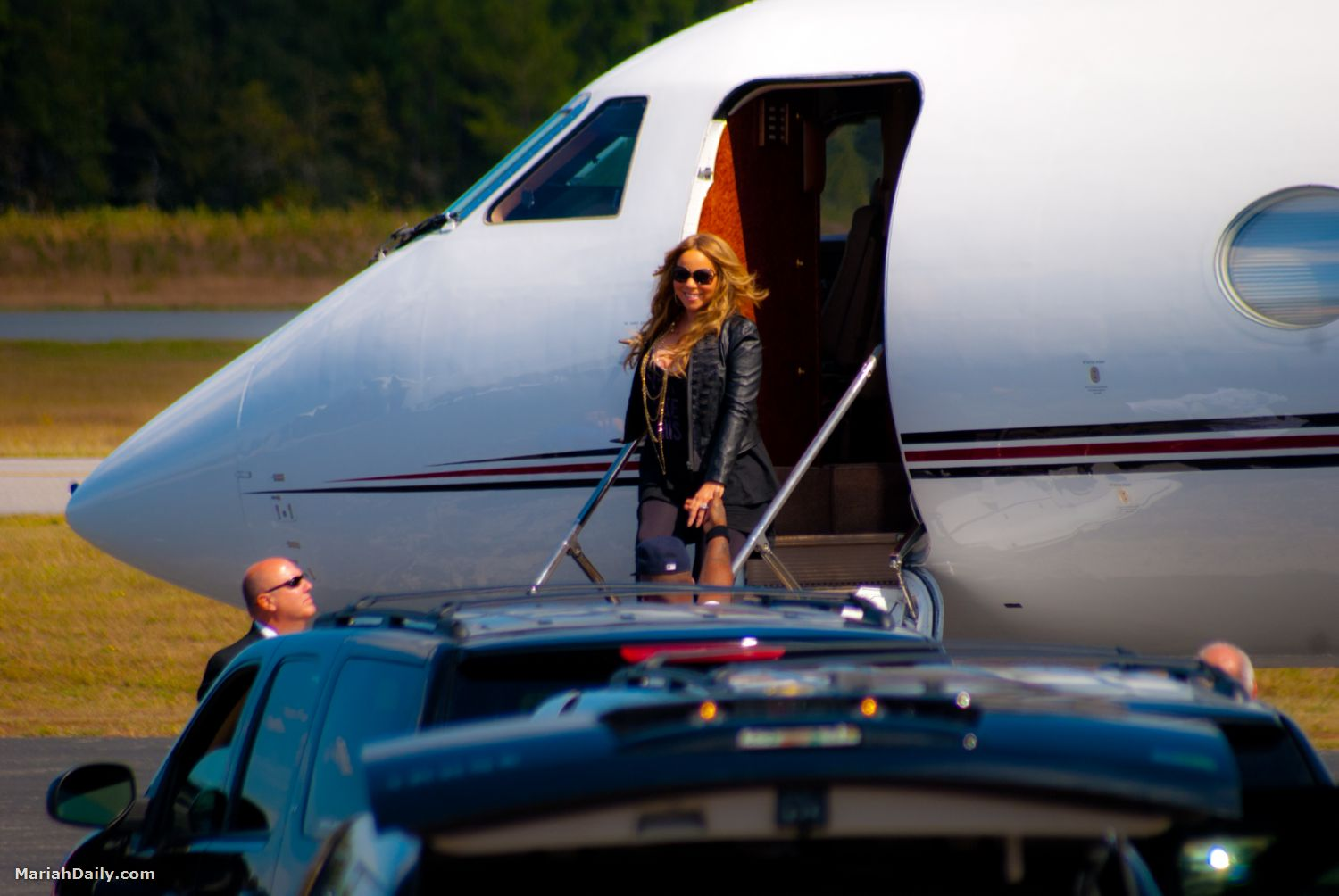 mariah11 Hot Shots: Mariah Carey Arrives In Florida