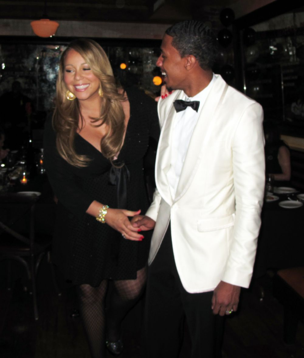 mariah9 Hot Shots: Mariah Carey Celebrates Nick Cannons Birthday In NYC