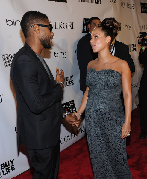 usher alicia 33 Hot Shots: Whitney, Beyonce, Alicia, Jennifer Hudson, & More At Keep A Child Alive Ball