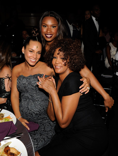 whitney jhud21 Hot Shots: Whitney, Beyonce, Alicia, Jennifer Hudson, & More At Keep A Child Alive Ball