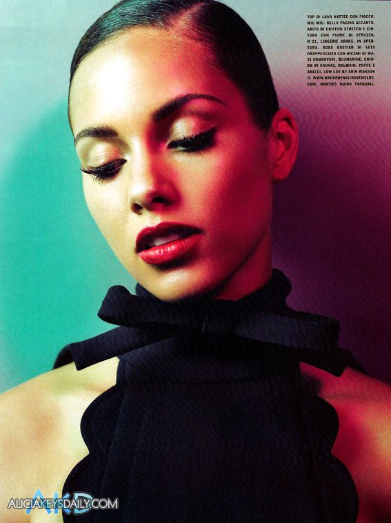 alicia keys06 Hot Shots: Alicia Keys Does Vogue Italia