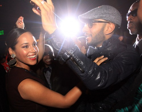 alicia swi e1289400491499 Hot Shots: Alicia Keys & Swizz Beats Party IN NYC