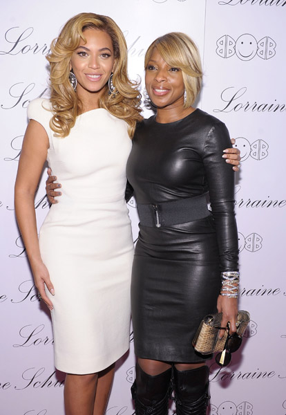 beyonce mary Hot Shots: Beyonce & Mary J. Blige Attend 2BHAPPY Jewellery Launch
