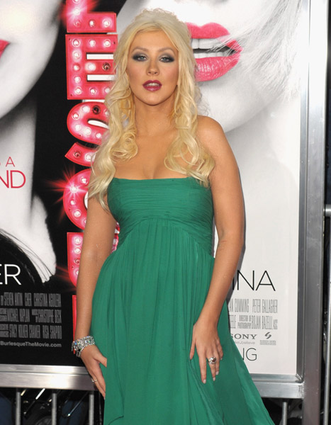 christina3 Hot Shots: Christina Aguilera At Burlesque Premiere