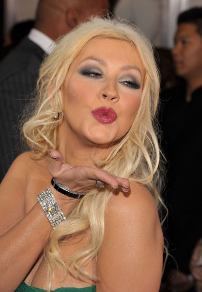 christina4 Hot Shots: Christina Aguilera At Burlesque Premiere