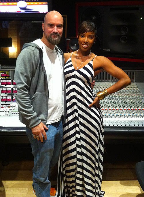 jimjonsin kellyrowland Hot Shots: Kelly Rowland Hits Studio With Jim Jonsin & Rico Love
