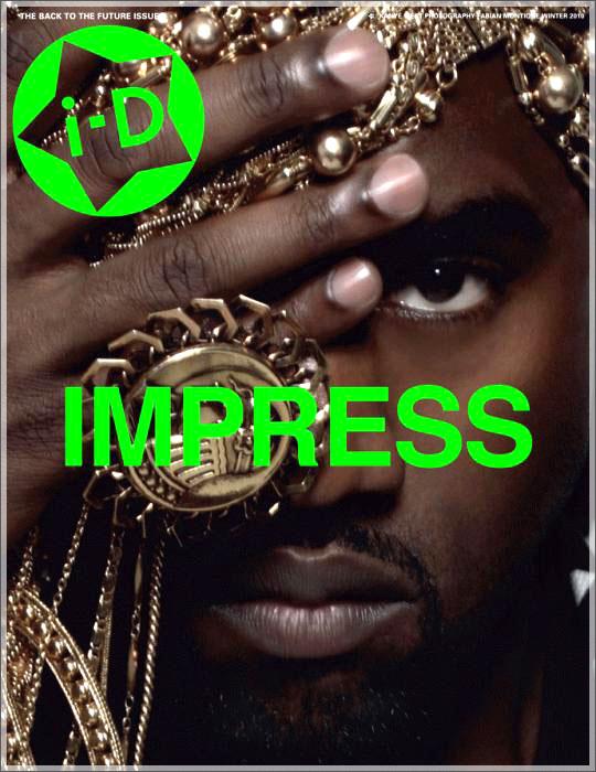 kanye1 Hot Shot: Kanye West Covers i D Magazine