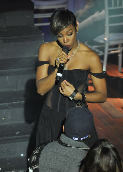 kelly tristan Hot Shots: Brandy & Kelly Rowland At Ne Yos VEVO Bash