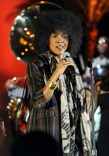 lauryn 5 Hot Shots: Lauryn Hill Rocks Parkinsons Benefit Gig