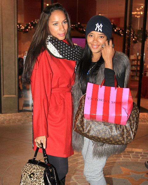 leonaangela Hot Shot: Leona Lewis & Angela Simmons Go Shopping In L.A