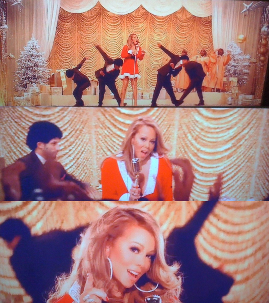 mariah2 Hot Shots: Mariah Carey Films Oh Santa Video