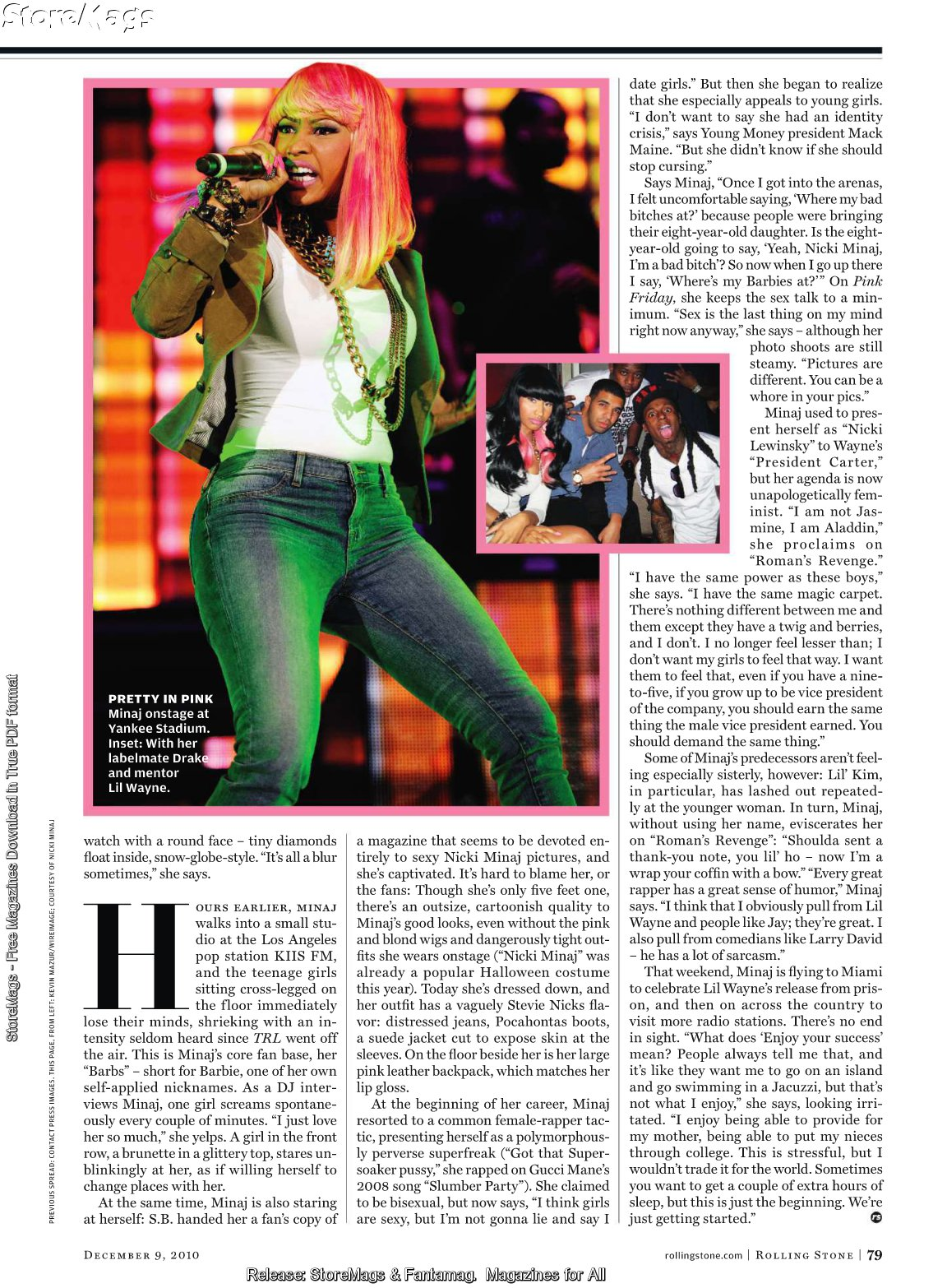 nickirolling2 Rolling Stone Proclaims Nicki Minaj The New Queen Of Hip Hop