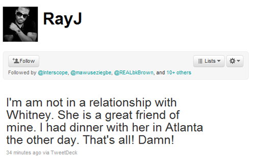 rayjwhit Quote of The Day: Ray J On Whitney Houston Relationship