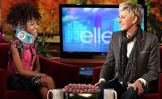 willowellen Hot Shot: Willow Smith Gets A Special Gift From Ellen